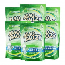 【毛寶兔】超酵素制臭抗菌防霉洗衣精1800g-補充包 x6