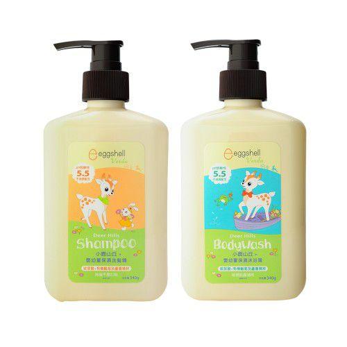 【eggshell Verda】小鹿山丘嬰幼童洗髮精340g x1 + 嬰幼童沐浴露340g x1