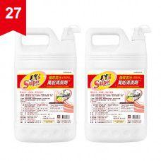 【毛寶S】強效去污萬能清潔劑4kg (黃金香柚) x2