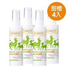 【eggshell Verda】小鹿山丘有機精油雙效防蚊液80g(甜橙精油) x4