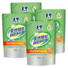 【毛寶】PM2.5潔淨洗衣精 天然植萃抗菌2000g 補充包 x4