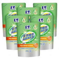 【毛寶】PM2.5潔淨洗衣精 天然植萃抗菌2000g 補充包 x6