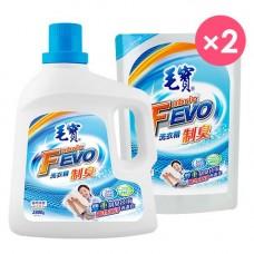 【毛寶】FEVO制臭洗衣精2800g x1 + 1800g補充包 x2