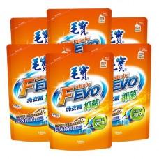 【毛寶】FEVO抑菌洗衣精1800g補充包 x6-效期到2020/01