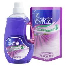 【香滿室】中性地板清潔劑(北海道薰衣草)2000g x1+ 1800g補充包 x1