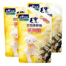 【毛寶】衣物柔軟精(防霉日光浴)1900g-補充包 x3
