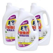 【毛寶】超強效萬用去污劑 - 白柚清香2000g-補充瓶 x3