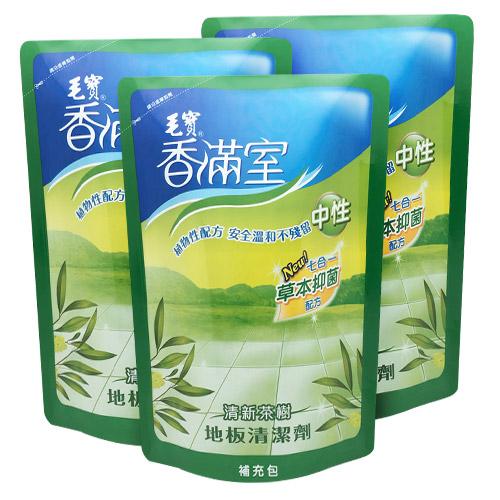 【香滿室】中性地板清潔劑(清新茶樹)補充包1800g x3