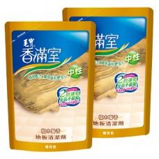 【香滿室】中性地板清潔劑(檀木馨香)補充包1800g x2