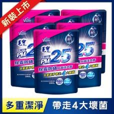 【毛寶】PM2.5抗菌洗衣精-除霉防螨2000g-補充包 x6