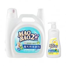 【毛寶兔】超天然小蘇打植物2倍濃縮洗衣精  5020g x1 +  【毛寶兔】蔬果食器洗滌液1000g-按壓瓶 x1