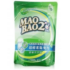 超酵素制臭抗菌防霉洗衣精1800g-補充包
